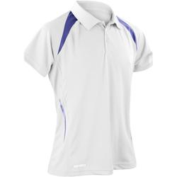 Textiel Heren Polo's korte mouwen Spiro S177M Wit/Zwaar