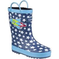 Schoenen Kinderen Regenlaarzen Cotswold Sprinkle Blauwe Raket