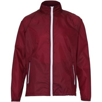 Textiel Heren Windjack 2786  Bourgogne/Wit
