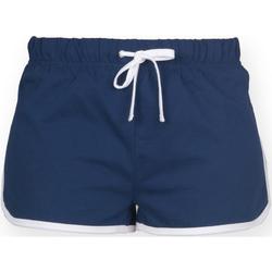Textiel Dames Korte broeken / Bermuda's Skinni Fit SK069 Marine / Wit