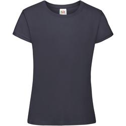 Textiel Meisjes T-shirts korte mouwen Fruit Of The Loom 61017 Marine Blauw