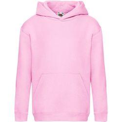 Textiel Kinderen Sweaters / Sweatshirts Fruit Of The Loom SS873 Licht Roze