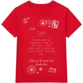 Textiel Kinderen T-shirts korte mouwen Christmas Shop CS145 Rood