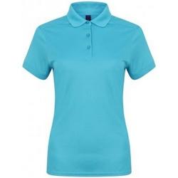 Textiel Dames Polo's korte mouwen Henbury HB461 Turquoise
