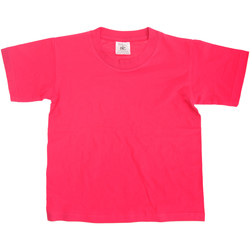 Textiel Kinderen T-shirts korte mouwen B And C TK300 Fuchsia