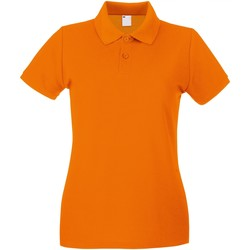 Textiel Dames Polo's korte mouwen Universal Textiles 63030 Helder oranje