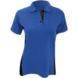 Textiel Dames Polo's korte mouwen Finden & Hales LV323 Koninklijk/zwart