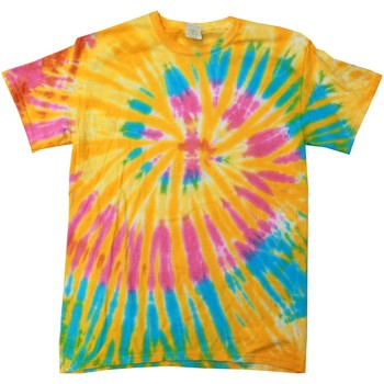 Textiel Dames T-shirts korte mouwen Colortone Rainbow Aurora