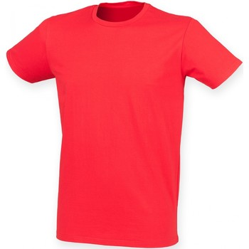 Textiel Heren T-shirts korte mouwen Skinni Fit SF121 Helder rood