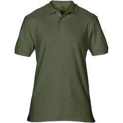 Textiel Heren Polo's korte mouwen Gildan Premium Leger Groen