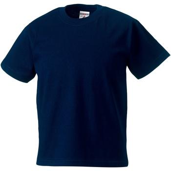 Textiel Kinderen T-shirts korte mouwen Jerzees Schoolgear ZT180B Franse marine