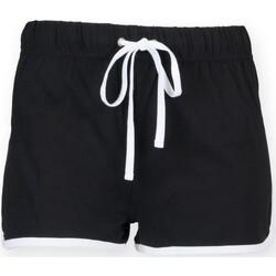 Textiel Kinderen Korte broeken / Bermuda's Skinni Fit SM069 Zwart / Wit