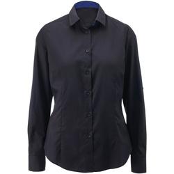 Textiel Dames Overhemden Alexandra AX060 Zwart / Koninklijk