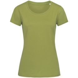 Textiel Dames T-shirts korte mouwen Stedman Stars  Groen