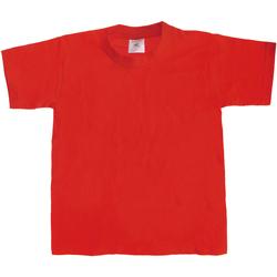 Textiel Kinderen T-shirts korte mouwen B And C TK301 Rood