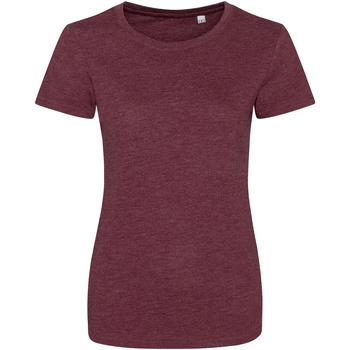 Textiel Dames T-shirts korte mouwen Awdis JT01F Heide Bourgogne