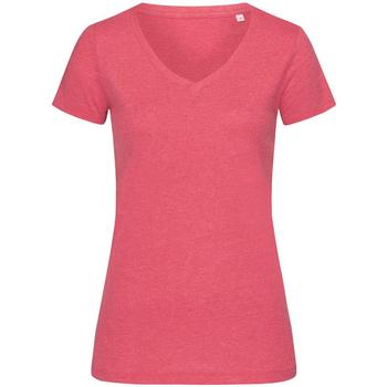 Textiel Dames T-shirts korte mouwen Stedman Stars  Kersen Heide