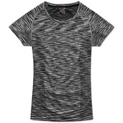 Textiel Dames T-shirts korte mouwen Stedman Seamless Zwart Opaalmelange
