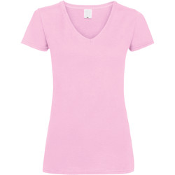 Textiel Dames T-shirts korte mouwen Universal Textiles Value Baby Roze