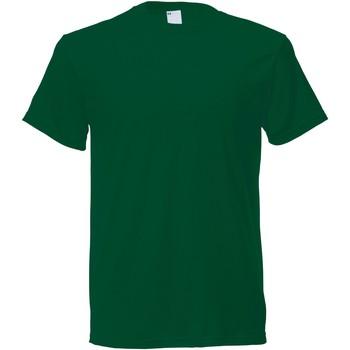 Textiel Heren T-shirts korte mouwen Universal Textiles 61082 Donkergroen