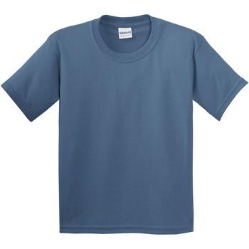 Textiel Kinderen T-shirts korte mouwen Gildan 5000B Indigoblauw