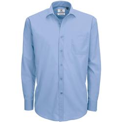Textiel Heren Overhemden lange mouwen B And C SMP61 Buisness Blauw