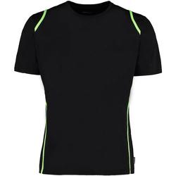 Textiel Heren T-shirts korte mouwen Gamegear Cooltex Zwart/Florescent Lime