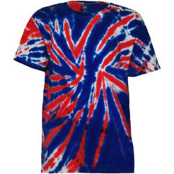 Textiel Kinderen T-shirts korte mouwen Colortone TD02B Union Jack
