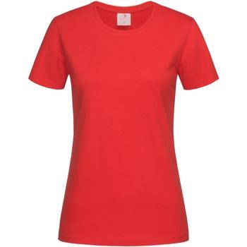 Textiel Dames T-shirts korte mouwen Stedman  Rood