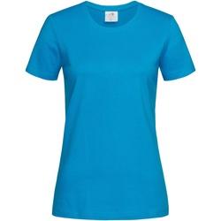 Textiel Dames T-shirts korte mouwen Stedman  Oceaan Blauw