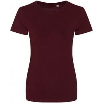 Textiel Dames T-shirts korte mouwen Ecologie EA01F Bourgondië