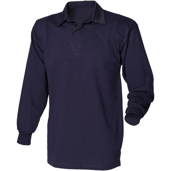 Textiel Heren Polo's lange mouwen Front Row FR100 Marine/Navy