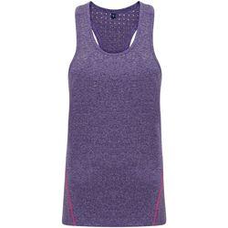 Textiel Dames Mouwloze tops Tridri TR041 Paars gemêleerd
