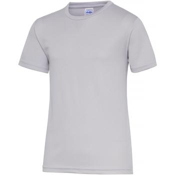 Textiel Kinderen T-shirts korte mouwen Awdis JC01J Heide Grijs