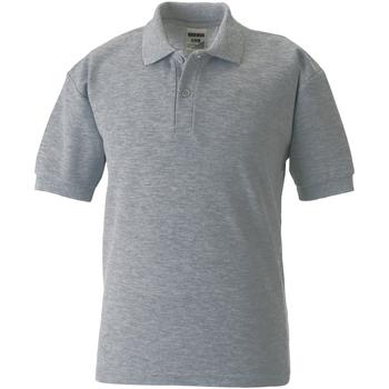 Textiel Kinderen Polo's korte mouwen Jerzees Schoolgear 539B Licht Oxford