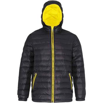 Textiel Heren Dons gevoerde jassen 2786 TS016 Zwart/Rechts Geel