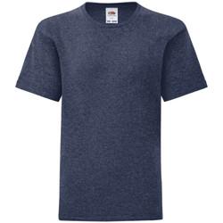 Textiel Kinderen T-shirts korte mouwen Fruit Of The Loom 61023 Heather Marine