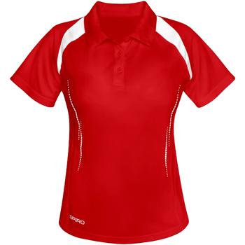 Textiel Dames Polo's korte mouwen Spiro S177F Rood/Wit