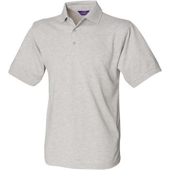 Textiel Heren Polo's korte mouwen Henbury HB400 Heide Grijs