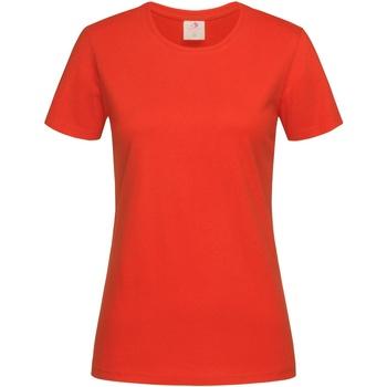 Textiel Dames T-shirts korte mouwen Stedman  Donkerrood