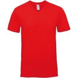 Textiel Heren T-shirts korte mouwen Gildan GD016 Rood