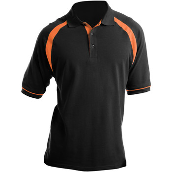 Textiel Heren Polo's korte mouwen Kustom Kit KK615 Zwart/Oranje