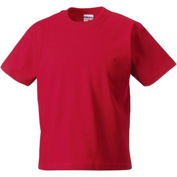 Textiel Kinderen T-shirts korte mouwen Jerzees Schoolgear ZT180B Klassiek rood
