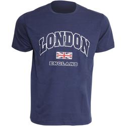 Textiel Heren T-shirts korte mouwen England  Marine