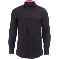 Textiel Heren Overhemden lange mouwen Alexandra Hospitality Zwart / Roze