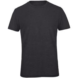 Textiel Heren T-shirts korte mouwen B And C TM055 Heide Donkergrijs