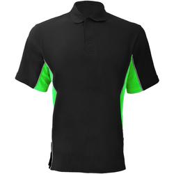 Textiel Heren Polo's korte mouwen Gamegear KK475 Zwart/Lime/Wit