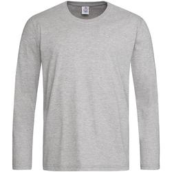 Textiel Heren T-shirts met lange mouwen Stedman  Grijs
