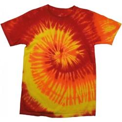 Textiel Dames T-shirts korte mouwen Colortone Rainbow Blaze