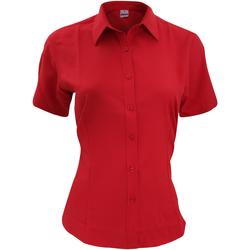 Textiel Heren Overhemden korte mouwen Henbury HB596 Klassiek rood